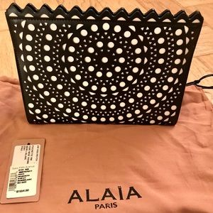 Beautiful Alaia Clutch with Scalloped Design BNWT